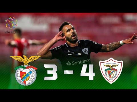 CHUVA DE GOLS E BRASILEIROS DECISIVOS! Melhores Momentos de Benfica 3 x 4 Santa Clara pela Liga NOS