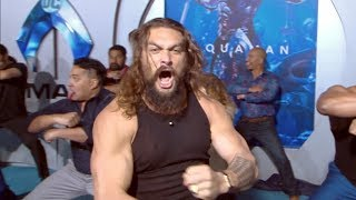 'Aquaman' Premiere Jason Momoa Performs Haka