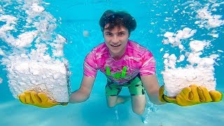 DRY ICE UNDERWATER!! - Video Youtube