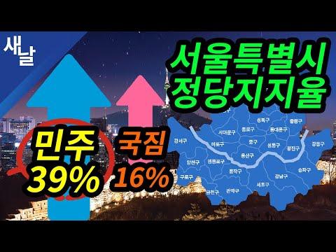 """서울, 민주 39% vs 국짐 16%"""""""