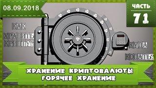 Как сохранить криптовалюту, горячее хранение, кошельки криптовалют, часть 1