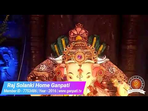 Raj Solanki Home Ganpati Decoration Video