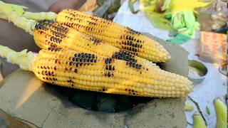 Green Fresh Roasted Corn || Indian Street food Kolkata