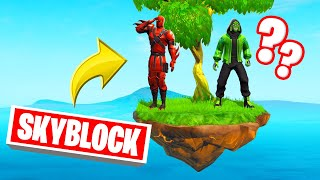 Playing SKY BLOCK In FORTNITE! (*NEW*)