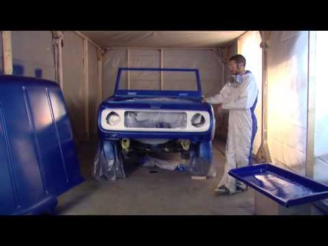 Dupli-Color 2013 Restoration Series: 1969 International Harvester Scout 800 - Episode 13 - How to Spray Paint Shop Finish System