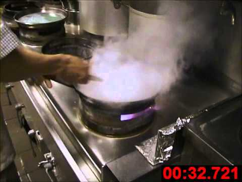 ack turbo burner wok cooking demonstration