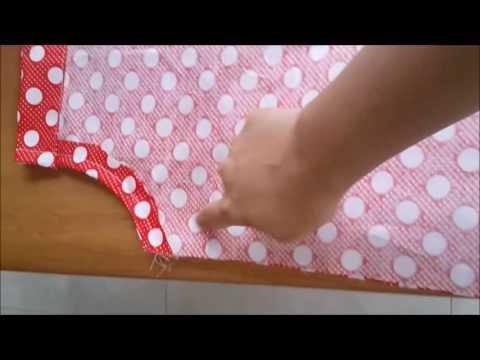 Video Cara menjahit model dress anak perempuan terbaru menggunakan mesin jahit mini portable