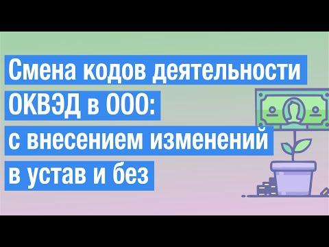 Смена кодов деятельности ОКВЭД в ООО - пошаговая инструкция