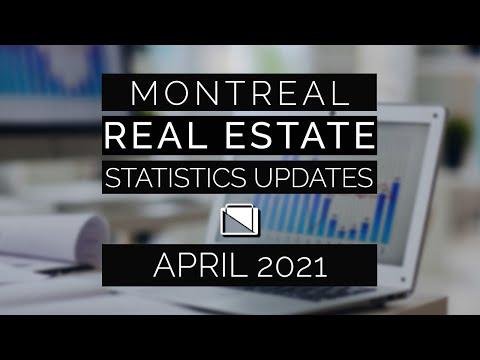 Montreal Real Estate Statistics Updates - April 2021