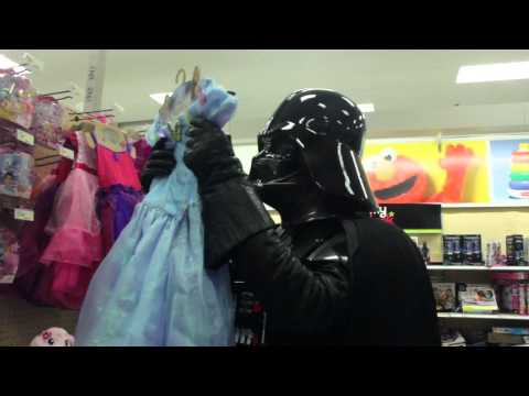 Darth Vader goes shopping during Force Friday