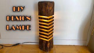 Altholz Designer LED Lampe bauen / DIY