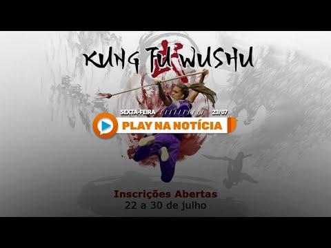 Matéria no Play Agora sobre as inscrições do Projeto Social Kung Fu Wushu