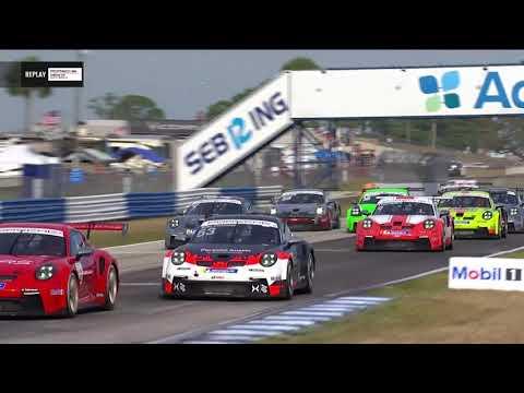 IMSA セブリング ポルシェカップ レース1の動画