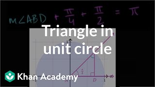 Solving Triangle In Unit Circle | Trigonometry | Khan Academy
