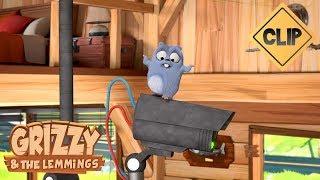 Un robot fait la sécurité dans la cabane du ranger - Grizzy & les Lemmings