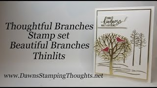 Thoughtful Branches Stamp Set With Beautiful Branches Thinlits From StampinUp!
