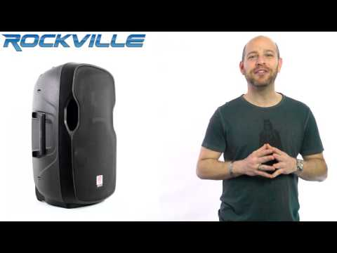 "Rockville BPA15 15"" Professional Powered Active 800w DJ PA Speaker W Bluetooth Mp3"