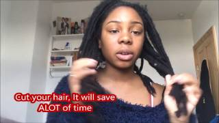 How To Remove Real Dreadlocks/ Combing Out Dreadlocks Type 4 Hair (Before And After)