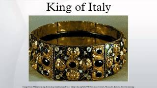 King of Italy