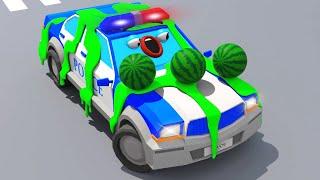 Полицейская Машина СУПЕР ГОНКИ Мультики про МАШИНКИ - мультфильмы для детей