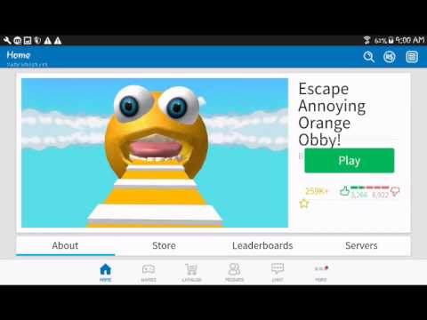 Playing Obby Escape Anoyying Orange Obby Roblox - annoying orange gaming roblox jailbreak how to play roblox