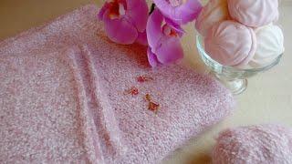 Бело-розовый джемпер из  пряжи DUENDE от Katia готов:)