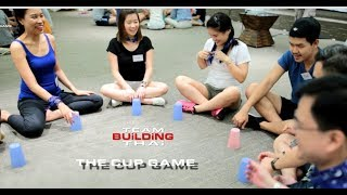 How to play the cup game team building for corporate events Collaboration team culture