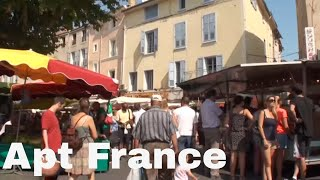 preview picture of video 'Provence France: Apt market Marché d'Apt in Luberon - every Saturday - chaque samedi'