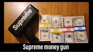 money gun and  Prop money unboxing