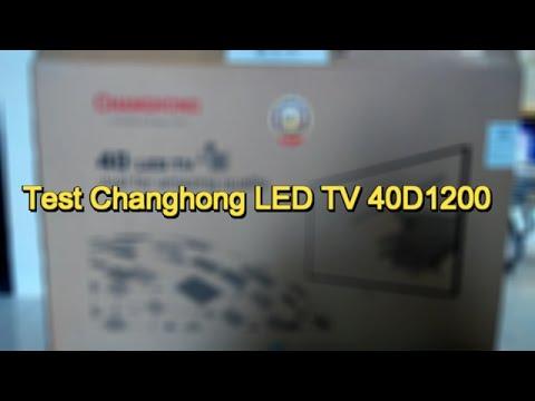 Test Changhong LED TV 40D1200