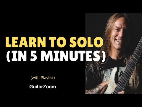[גיטרה] למד לנגן סולו ב-5 דקות
