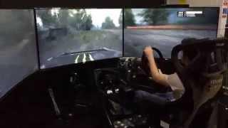 195-дюймовый игровой симулятор вождения