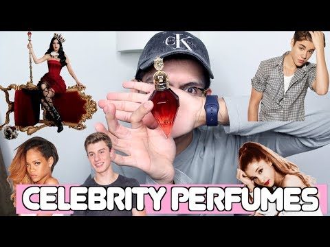 TRYING CELEBRITY PERFUMES! (and it goes wrong lol)