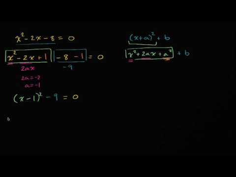 Worked example: Solving equations by completing the square (video