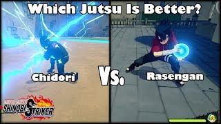 Naruto to Boruto Shinobi Striker Chidori Vs Rasengan Jutsu Breakdown/Test!