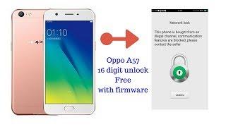 Oppo A57 Network Lock 16 digit code New Security Unlock 10