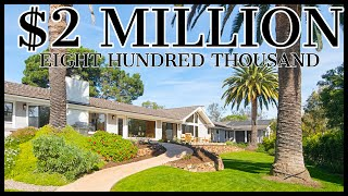 $2,800,000 TRUE LUXURY LIVING (Single Level Rancho Santa Fe Estate W/Guest House)