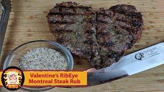 RibEye Steak with homemade Montreal Steak Rub   Valentines Dinner