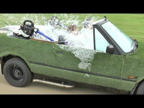 Сумасшедшая идея: джакузи в автомобиле (фото + 2 видео)