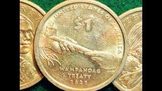 """2011 Sacagawea """"Wampanoag Treaty"""" Dollar Coin"""