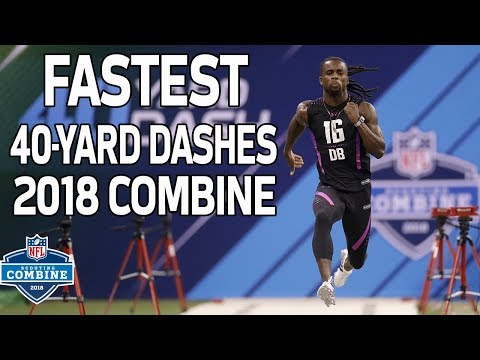 The Fastest 40-Yard Dash Times of 2018!   NFL Combine Highlights