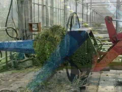 Multiroller for winding tomato haulm, plants, plastic, horticultural foil, screen cloth, mypex