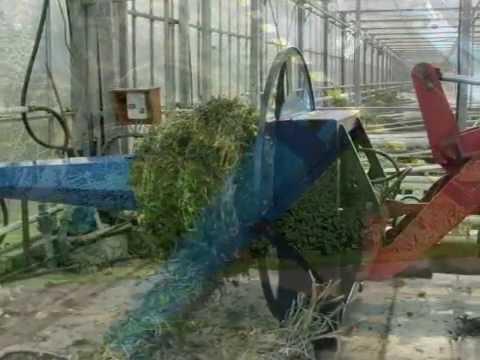 Multiroller for winding tomato haulm, plants, plastic, horticultural foil, screen cloth, mypex