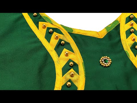 Beautiful Blouse Design | Blouse Back Neck Design Stitching Class