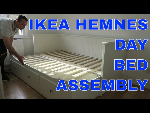 IKEA HEMNES Day-bed frame with 3 drawers assembly