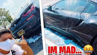 The Kid who LEAKED My SONG EGG'D My BMW i8 & THIS HAPPENED...