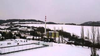 preview picture of video 'odstrel komina dolny kubin brezovec 2013'