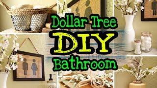 Dollar Tree Farmhouse DIY Bathroom Decor