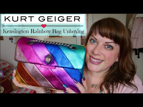 Kurt Geiger Unboxing | Kensington Rainbow Bag