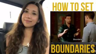 VLOG: How to set boundaries